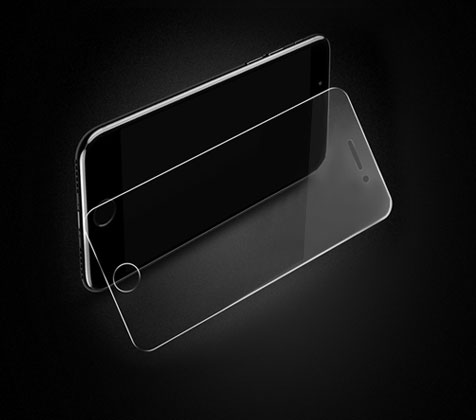 Transparent tempered film for mobile phone